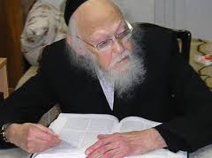 Picture of Rabbi Yosef Shalom Elyashiv.
